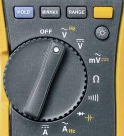 Multimètre commutateur bouton
