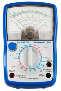 Peak Tech Multimètre analogique CAT III 600 V; ampèremètre DC 10 A