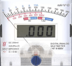 multimètre analogique avec le double affichage