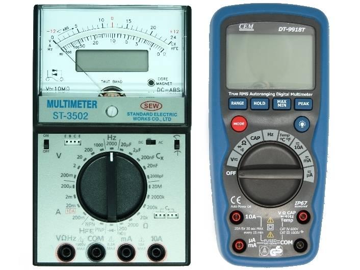 Multimètre pas cher numérique et analogique